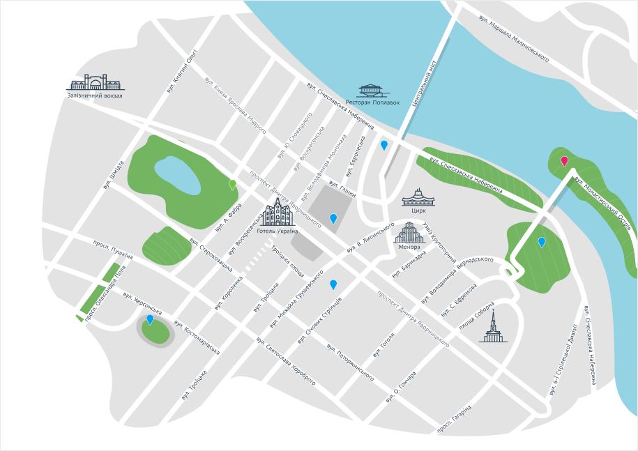Дизайнеры рассказали, как создавалась туристическая карта Днепра